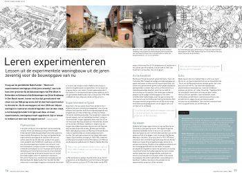 Artikel 'Leren experimenteren' in Architectuur Lokaal nr. 92 (2018)